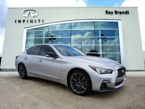 Certified Pre-Owned 2018 INFINITI Q50 Red Sport 400 AWD